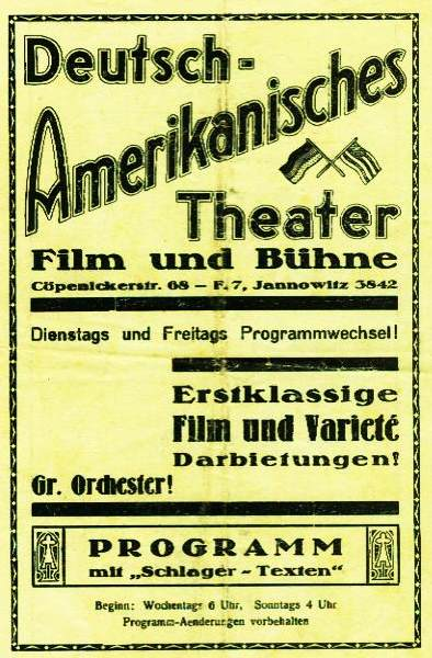 Kino Deutsch Amerikanisches Theater