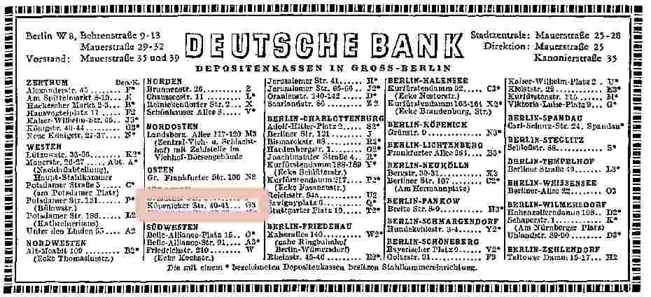 Deutsche Bank Filiale Köpenicker Str. 40/41